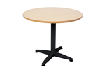 Rapid Air Round Table 4 Star Black PC Pedestal Frame With 900mm BEECH TOP