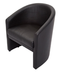 Rapid Tub Reception Chair Single Seat Black PU