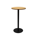 RAPID DRY BAR TABLE 600MM ROUND TOP 1075H BLACK BASE BEECH TOP