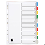Marbig Dividers PP A4 10 Tab Multi Colour
