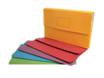 Marbig Document Wallet Brights A4 Assorted Pack 10