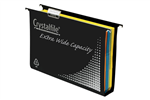 Crystalfile Suspension Extra Wide Foolscap Black 10