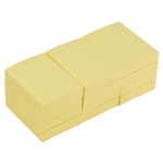Bibbulmun Sticky Notes 36x48mm Yellow 12 pack