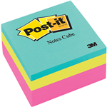 PostIt Notes 2027RCR Cube 73x73mm Bright Neon