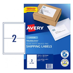 Avery Shipping Label Trueblock L7168 2UP White 100