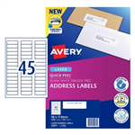 Avery Quick Peel Address Labels SF L7156 45UP 100