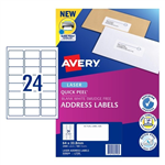 Avery Quick Peel Address Labels SF L7159 24UP 100