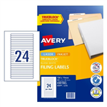 Avery Labels File Spines L7170 134x11mm 24UP 25