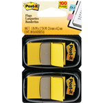 Postit Flags 680 Twin Colours 25x44mm 2 YELLOW