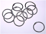 Esselte Hinged Rings No6 25mm Silver