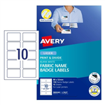 Avery Fabric Name Badges Labels L7427 10UP Pack 15