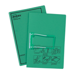 Avery Tubeclip File Foolscap Green Black Print 20