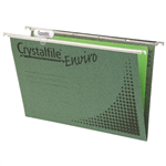 Crystalfile Suspension Files Classic A4 Green Pack 20