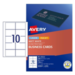 Avery Business Cards L7414 10UP Laser Inkjet SS 20