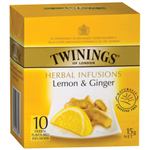 Twinings Tea Bags Lemon and Ginger Enveloped Pack 10