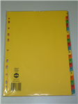 Marbig Dividers Manilla A4 AZ Tab Bright Colour