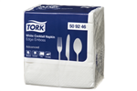 Tork Napkin Cocktail 2 Ply 24x24 White 100 Sheets