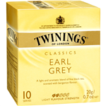 Twinings Tea Bags Earl Grey Enveloped Pack 10